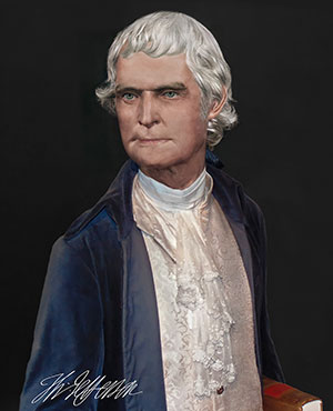 Thomas Jefferson Life Mask Print